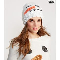 Aeropostale Snowman Knit Beanie ( 5.60) ❤ liked on Polyvore featuring  accessories bc0925656527