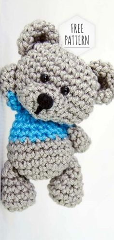 FREE CROCHET pattern - Amigurumi Teddy Bear Pattern ~ no size given but then again probably depends on hook and yarn used. Amigurumi crochet boys , knitting patterns for amigurumi puppies - stylish boys in trou Crochet Amigurumi Free Patterns, Crochet Animal Patterns, Crochet Dolls, Crochet Animals, Amigurumi Tutorial, Cute Crochet, Crochet Crafts, Crochet Projects, Crochet Baby