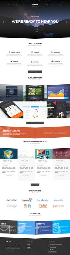 Starry - Creative & Easy Wordpress theme on Behance