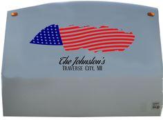 USA American Flag RV Camper Vinyl Decal Sticker Graphic Custom Text Sign Mural YT06