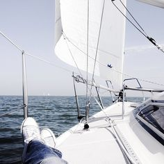 What a great day to sail. #sailing #sail #my #sailingboat #fun #sun #love #beautiful #sky #sea #iphoneonly