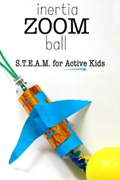 Inertia Zoom Ball science project for kids. Summer Science, Stem Science, Preschool Science, Teaching Science, Stem Teaching, Teaching Boys, Science Week, Brain Science, Science Projects For Kids