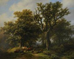 Barend Cornelis Koekkoek - Boslandschap 1850
