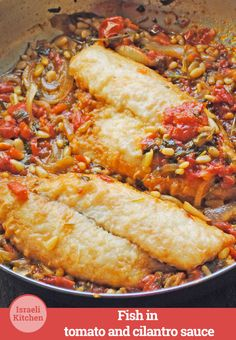 This delectable fish is saucy, herby and pungent. #IsraeliKitchen #recipe