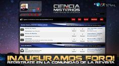 ATENCIÓN: Inauguramos el FORO OFICIAL de Revista Ciencia y Misterios