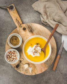 Soupe de potiron carotte au lait de coco