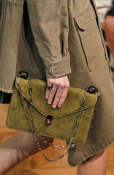 This suede chain-link envelope bag from Valentino was a standout on the SS17 runways.