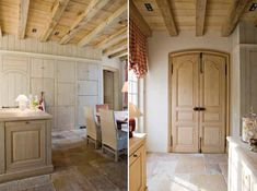 Stunning authentic wood elements in gorgeous kitchen, woodwork by http://www.betaplus.com/