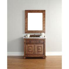 James Martin 36-inch Single Brown Bathroom Vanity