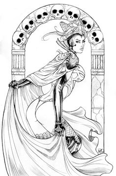 drawn for in your dreams comics, published through zenescope entertainment. a female reaper. other no tomorrow cover