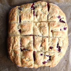 Fresh Cherry and Almond Paste Scones - made with almond paste instead of butter.