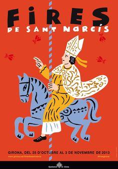 Resultado de imagen de Cartell fires Sant Narcis GIRONA 2016