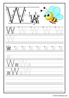 FREE Tracing Worksheet for Kids. Education Craft and Worksheet for Preschool,Toddler and Kindergarten. Learn to write the alphabet with 123 Kids Fun. Free Printable Alphabet Worksheets, Alphabet Writing Worksheets, Alphabet Writing Practice, Alphabet Tracing, Alphabet For Kids, Tracing Worksheets, Alphabet Book, Kindergarten Worksheets, Interactive Learning