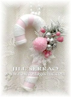 Pink Candy canes from Jill Serrao Rose Cottage Chic