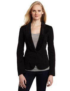 Calvin Klein Jeans Women's Velvet Collar Blazer