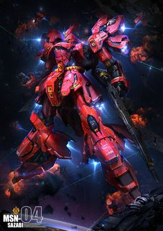 Sazabi by theDURRRRIAN.deviantart.com on @DeviantArt