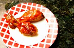 Easy maple barbecued drumsticks with maple syrup, chili sauce, ketchup, and seasonings.