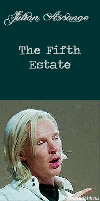 THE FIFTH ESTATE ~ Benedict Cumberbatch as Julian Assange. [Video/GIF]