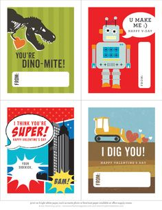 Downloadable Valentines that are super cool!!