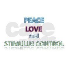 Peace, Love, Stimulus Control