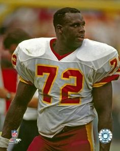 Dexter Manley, a great Washington Professional Football Team player who grew up while playing the game.
