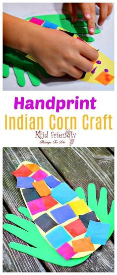 Easy and Sweet Handprint Indian Corn Craft for Kids to Make is part of Fall crafts Elementary - Easy and Sweet Handprint Indian Corn Craft for Kids to Make Great fall craft for preschool or elementary school www kidfriendlythingstodo com Preschool Art Projects, Daycare Crafts, Classroom Crafts, Preschool Crafts, Kindergarten Crafts, Classroom Activities, Kid Crafts, Babysitting Activities, School Projects