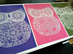 Owl Paper Cutting by all things paper, via Flickr