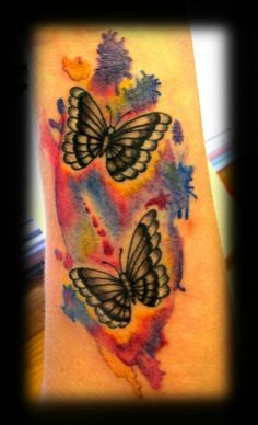 Tattoo done by peter!  #centralbodyart #tbay #tbaytattoo #tattoo #watercolourtattoo #watercolourbutterfly #butterflytattoo #inked #eternalink