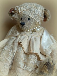 Border Bear dressed in lace and satin ♥
