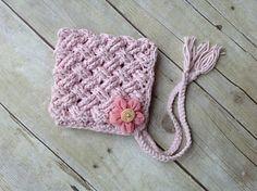 Diagonal Weave Pixie Bonnet crochet pattern
