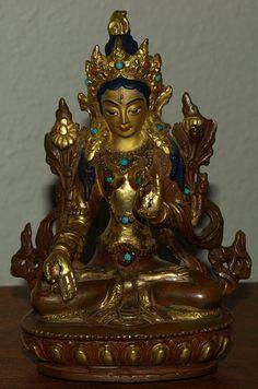 "13/"" Antique Tibetan Buddhism hand painting copper gilt vaisravana Buddha statue"