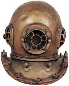 antique fish dive helmet