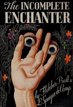 'The Incomplete Enchanter,' by L. Sprague de Camp and Fletcher Pratt, Dust jacket illustration by Boris Artzybasheff. Book Cover Art, Book Cover Design, Book Design, Book Art, Illustration Photo, Digital Illustration, Desenho Tattoo, Vintage Book Covers, Book Jacket