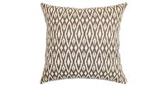 Change up your look in an instant. Inspired by bold tribal designs, this throw pillow adds a touch of exotic pattern to the space. Its down-and-feather fill ensures long-lasting loftiness. Hidden...