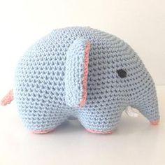 Opskrift på hæklet elefant!