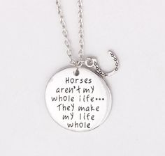 Does the love of horses make your life? Wear this pendant to make a statement.