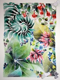 Garden in the Spring - Kate Morgan - Artist & Illustrator Watercolours, Watercolour Painting, Botany, Textile Design, Illustrator, Wildlife, Illustration Art, Tropical, Artists