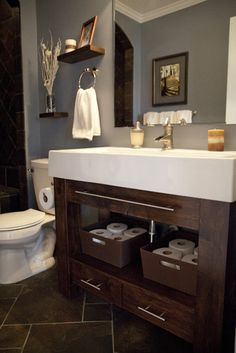 very similar to what's going on in our new bathroom. Makes a good case for a white rather than a black granite countertop.