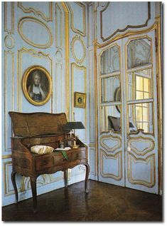 Ted and Lillian Williams restored French Folly - Chateau de Morsan built circa 1736 Normandy, France. Image from Book Judith Miller's COLOR ...