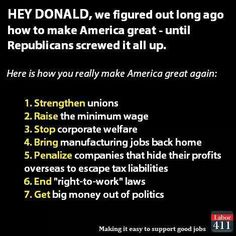 Unfortunately, manufacturing jobs are pretty much done by robotics now. And not everyone is cut out to a doctor, CEO or plumber. It's time to talk about universal income, education and healthcare. Expensive in the beginning, but over the decades, it will be cheaper than traditional welfare, food stamps and HUD housing.