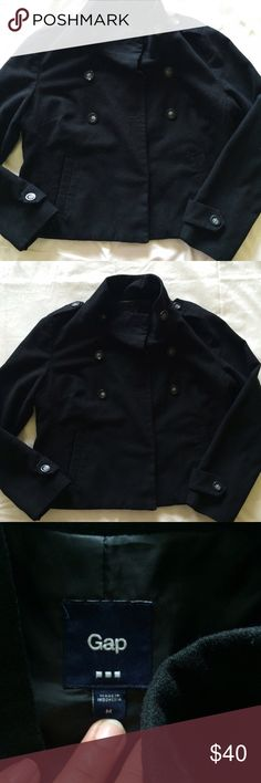 Gap Peacoat gap Peacoat • style is designed to be shorter • in great shape • size Medium GAP Jackets & Coats Pea Coats