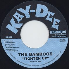 Bamboos / Tighten Up Home Theater Sound System, Home Theatre Sound, 45 Records, Vinyl Records, Label Design, Graphic Design, Vinyl Record Art, Used Vinyl, Music Covers