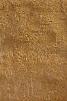 Yellow plaster wall