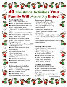 40 Christmas Activities Your Family Will Really Enjoy - Kiddie Matters - Joyeux Noel 25 Days Of Christmas, Christmas Countdown, Winter Christmas, Christmas Crafts, Christmas Decorations, Christmas Advent Ideas, Christmas Planning, Christmas Ideas For Kids, Christmas Checklist