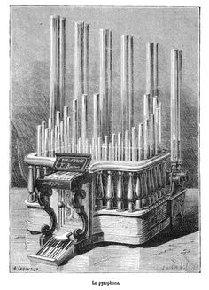 """Pyrophone - also known as a """"fire/explosion organ"""" or """"fire/explosion calliope"""" is a musical instrument in which notes are sounded by explosions, or similar forms of rapid combustion, rapid heating, or the like."""