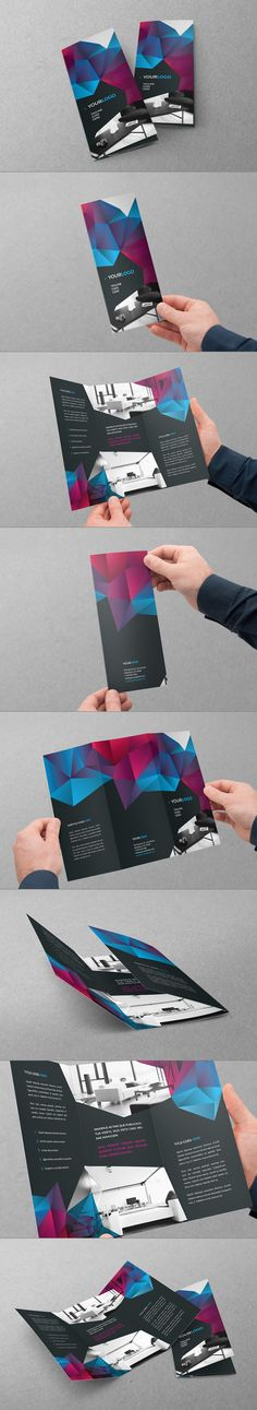 Cool Modern Trifold. Download here: http://graphicriver.net/item/cool-modern-trifold/7791782?ref=abradesign #design #brochure