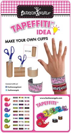 Easy, fun Tapefitti project! Make your own cuff bracelets!