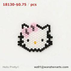 #hello kitty#pink#lovely#miyuki beads#pendant#handmade #jewelry Bead Loom Patterns, Beading Patterns, Perler Beads, Hello Kitty, Pink Cat, Rakhi, Brick Stitch, Loom Beading, Bead Weaving