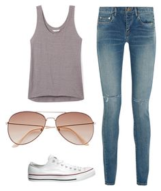 """Untitled #12"" by softball1042 on Polyvore featuring Yves Saint Laurent, Converse, Rebecca Minkoff and H&M"