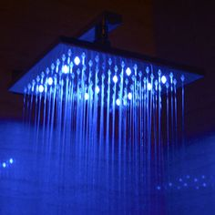 "ALFI brand LED5005 10"" Square Multi Color LED Rain Shower Head"